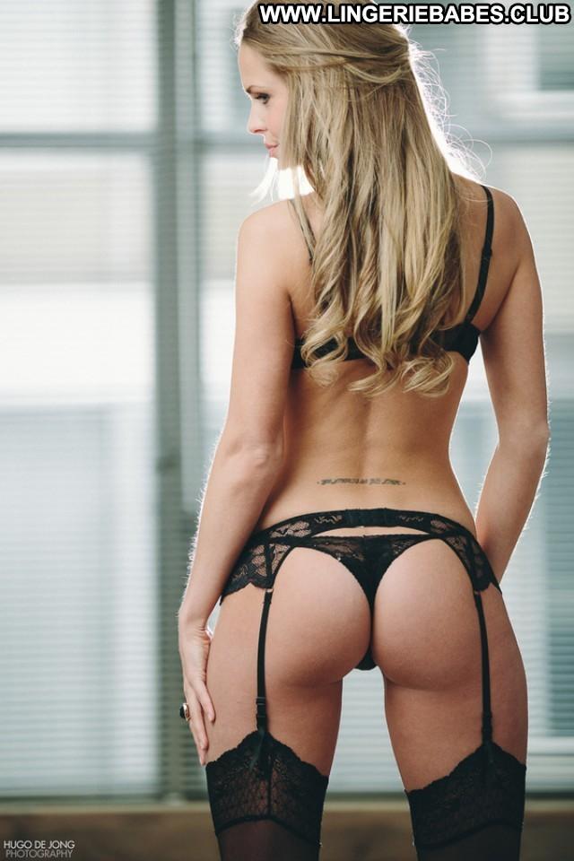 Lorraine Photoshoot Cute Glamour Athletic Stunning Lingerie Blonde