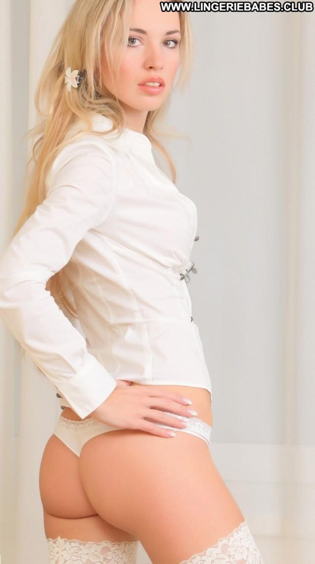 Josphine Photoshoot Lingerie Cute Blonde Sensual Beautiful Slim