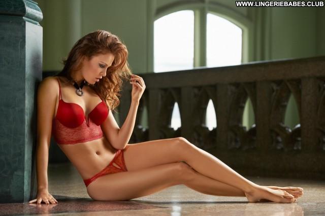 Rebekah Photoshoot Glamour Cute Blonde Model Sensual Lingerie Chick
