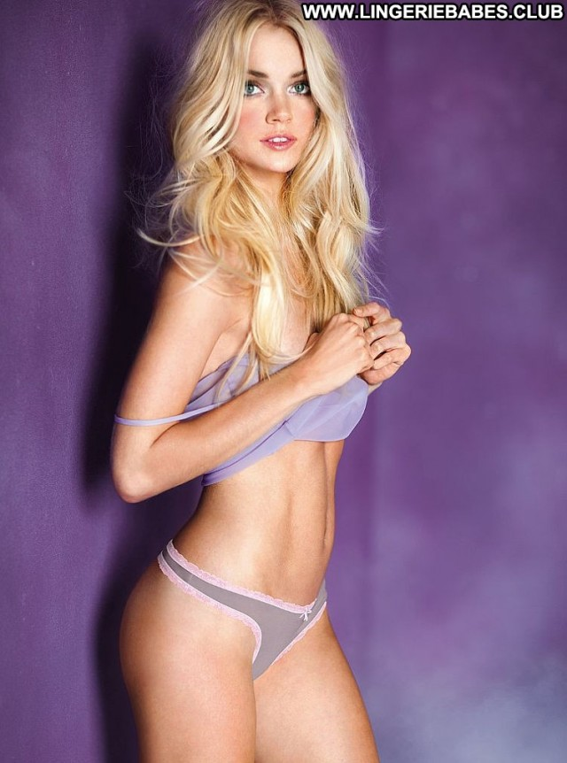 Rebekah Photoshoot Chick Lingerie Glamour Model Cute Sensual Blonde