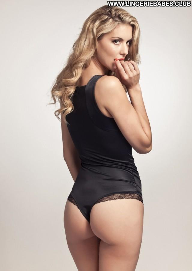 Letty Photoshoot Blonde Lingerie Bombshell Sensual Slender Model Hot