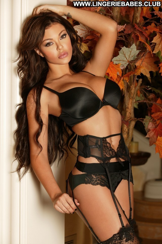 Aide Photoshoot Lingerie Bombshell Stunning Slim Brown Hair Beautiful