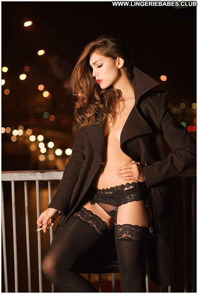 Ryana Photoshoot Lingerie Slim Fitness Model Gorgeous Brown Hair