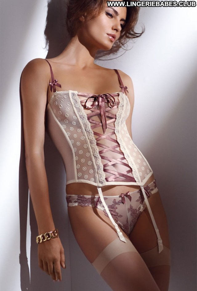Leona Photoshoot Slender Lingerie Glamour Beautiful Doll Brown Hair