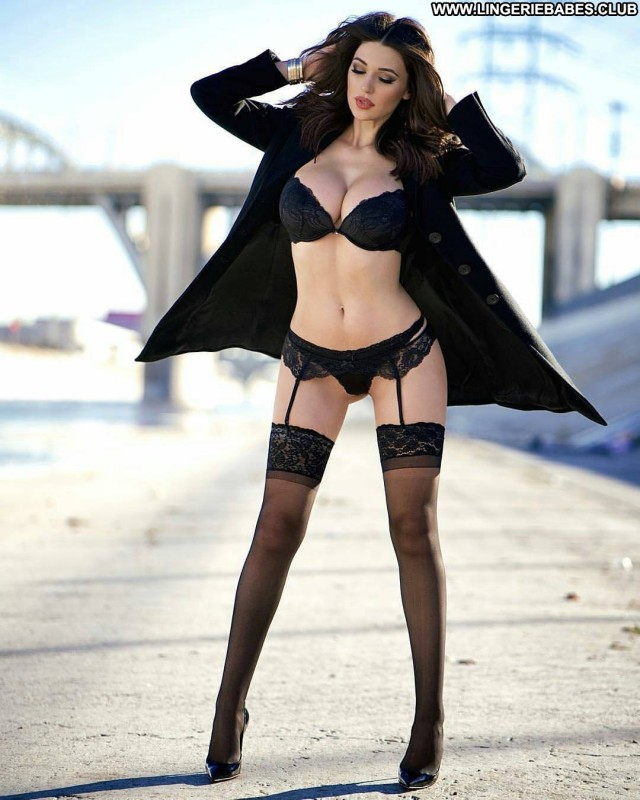 Maisie Photoshoot Sultry Doll Lingerie Brown Hair Slender Cute Fitness