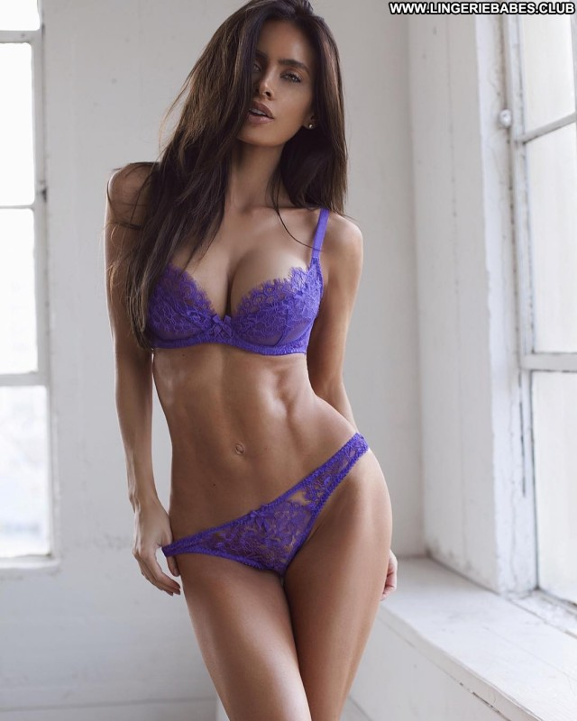 Chanelle Photoshoot Brown Hair Lingerie Sensual Posing Hot Fitness